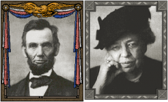 Abraham Lincoln un Eleanor Roosevelt